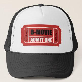B-filmbiljetten med den beställnings- biljetten keps