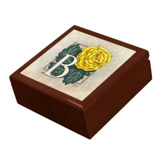B för BegoniasblommaMonogram Minnesask