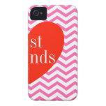 b-iPhone 4 rosa bästa vän för sparre som matchar f Case-Mate iPhone 4 Skal