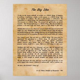 B J Palmer - det stora idéChiropractictrycket Poster