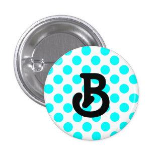 B-monogramen knäppas mini knapp rund 3.2 cm