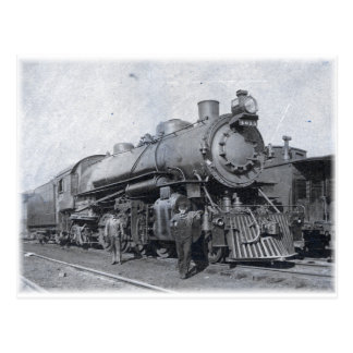 B- & nolla-ångalokomotiv 4013 vykort