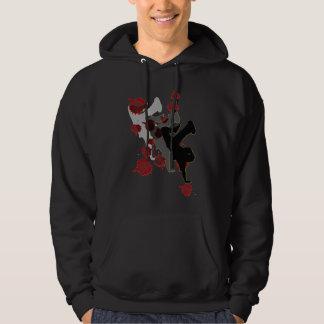 B-Pojke: Skugga den mörka hoodien Sweatshirt