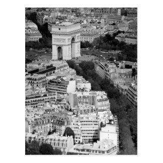B&W Arc de Triomphe Vykort
