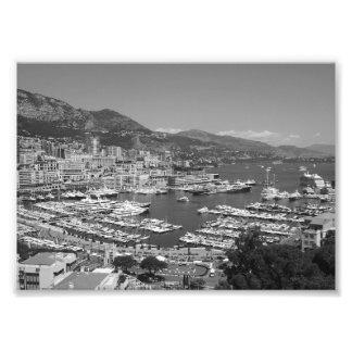 B&W Monaco Fototryck