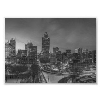 B&W Montreal Fototryck