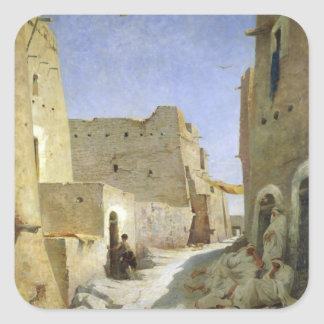 Bab-El-Gharbi vägen, Laghouat, 1859 Fyrkantigt Klistermärke