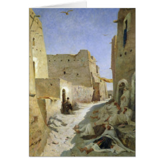 Bab-El-Gharbi vägen, Laghouat, 1859 Hälsningskort