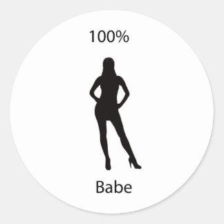 babe 100% runt klistermärke