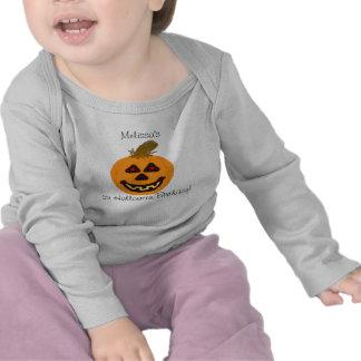 Baby 1st födelsedag som ler pumpaT-tröja