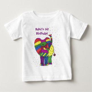 Baby 1st födelsedagelefant t-shirts