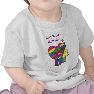 Baby 1st födelsedagelefant t shirts