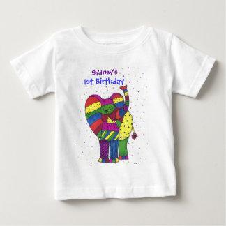 Baby 1st födelsedagelefant tshirts