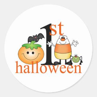 Baby 1st Halloween Rund Klistermärke