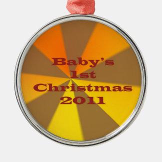 Baby 1st jul 2011 julgransprydnad metall