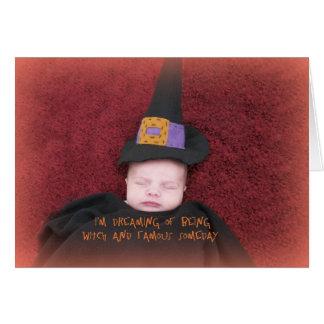 Baby 1st kort för Halloween hälsning