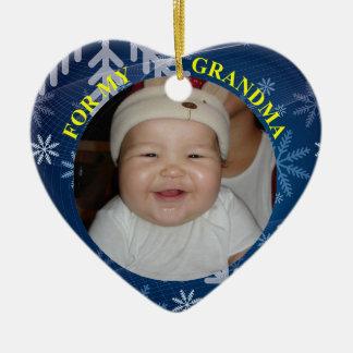 Baby 1st minnessak för julfoto för mormor julgransprydnad keramik