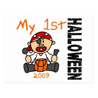 Baby 1st POJKE för Halloween 2009 pirat Vykort