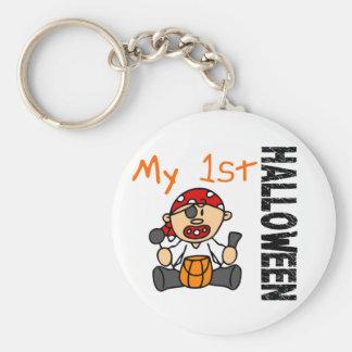 Baby 1st POJKE för Halloween pirat Rund Nyckelring
