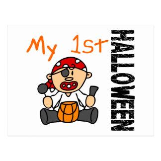 Baby 1st POJKE för Halloween pirat Vykort