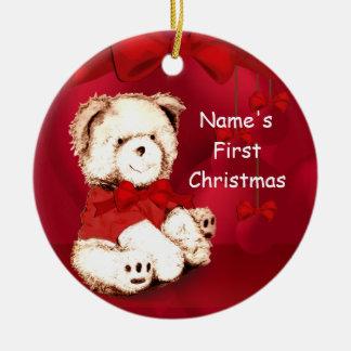 Baby 1st prydnad för julnalle julgransprydnad keramik