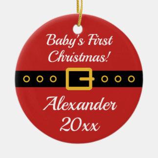 Baby 1st prydnad för träd för juljultomten julgransprydnad keramik