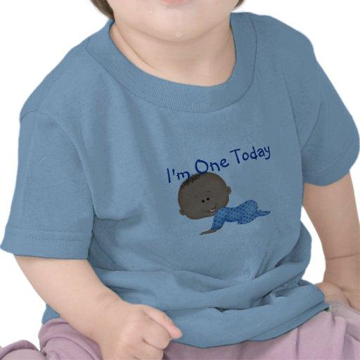 Baby 1st Tshirt för pojke för födelsedagafrikansk  T-shirt