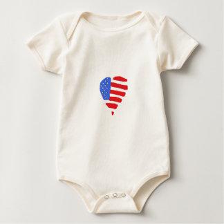 Baby amerikanska flagganskjorta body för baby