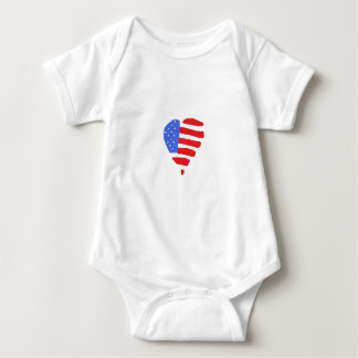 Baby amerikanska flagganskjorta t-shirts