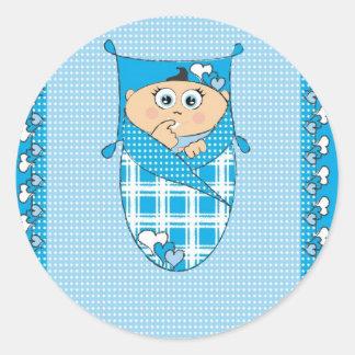 Baby_blue Runt Klistermärke