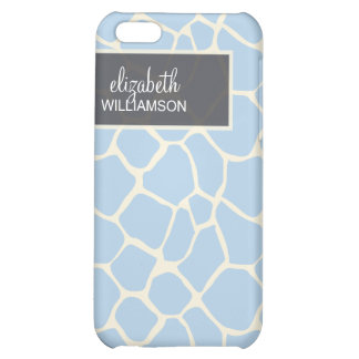 Baby blue giraff Pern iPhone 5C Mobil Skydd