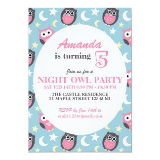 Baby blue och rosa inbjudan för