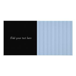 Baby blue randar för randmönsterlodrät foto kort