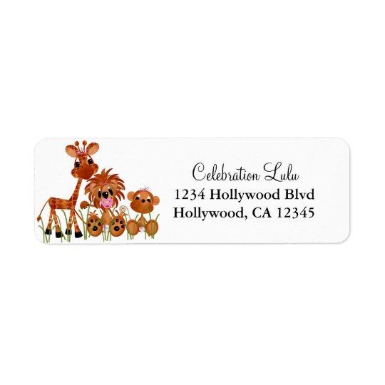 Baby djurreturadressetikett returadress etikett