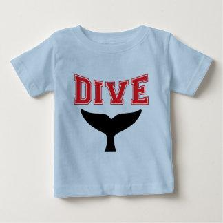 Baby för dyk för valdesignSCUBA begynna Tee Shirt