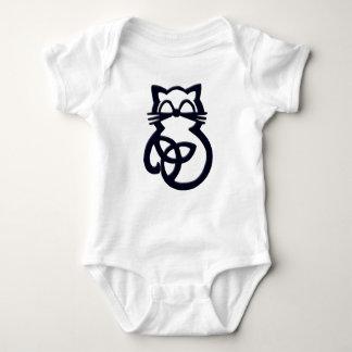 Baby för katt för svart Trinityfnurra Celtic ett Tee Shirts