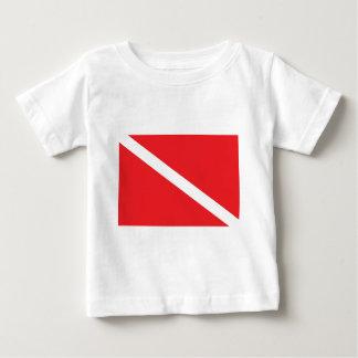Baby för SCUBAdykflagga Tee Shirt