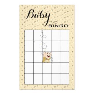 Baby för stjärnor för svart för baby reklamblad 14 x 21,5 cm