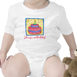 Baby första (1st) ranka för spädbarn för födelseda tee shirts