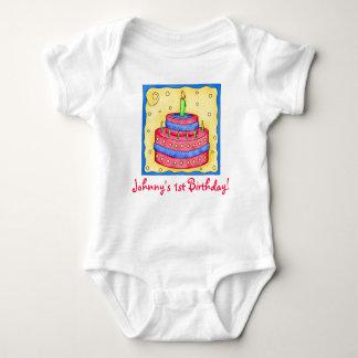 Baby första (1st) ranka för spädbarn för t shirts