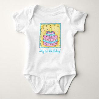 Baby första (1st) ranka för spädbarn för t-shirt