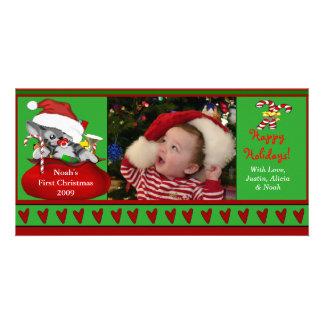 Baby första kort för julfoto fotokort