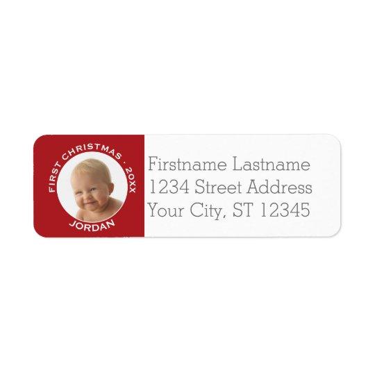 Baby första namn och år för anpassningsbar för returadress etikett