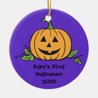 Baby första prydnad för gåva för Halloween Rund Julgransprydnad I Keramik