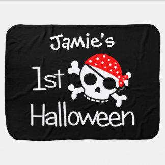 Baby första skalle för Halloween pirat