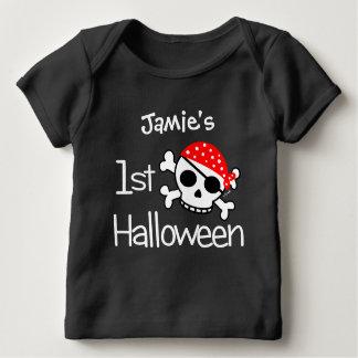 Baby första skalle för Halloween pirat T-shirts