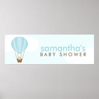Baby i en ballongbaby shower poster