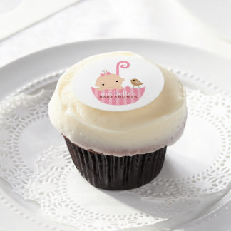 Baby i rosa paraplybaby shower
