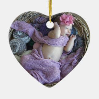 Baby Julgransprydnad Keramik