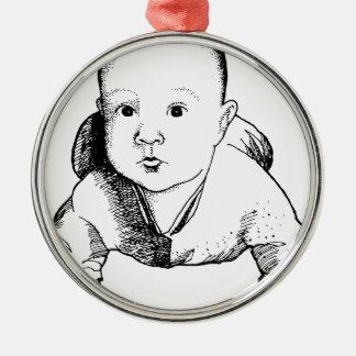 Baby Julgransprydnad Metall